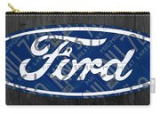 Ford Motor Company Retro Logo License Plate Art Carry-all Pouch