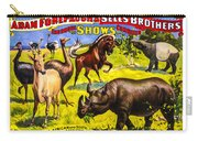 Forepaugh And Sells Wondrous Wild Beasts Carry-all Pouch