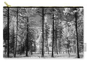 Forest Black And White Carry-all Pouch
