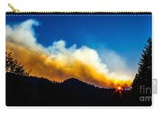 Forest Fire Sunset Carry-all Pouch