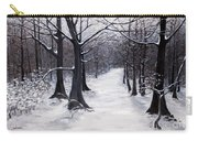 Forest Path In Winter Carry-all Pouch