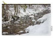 Winter Forest River Carry-all Pouch