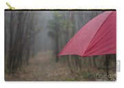 Forest With A Red Umbrella Carry-all Pouch