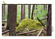 Forest With Moss-covered Rocks Along John's Lake Trail In Glacier Np-mt Carry-all Pouch