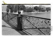Forever Love In Paris - Black And White Carry-all Pouch