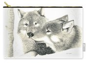 Forever Wolf Love-the Greeting Carry-all Pouch