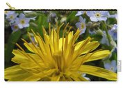 Forget Me Not Carry-all Pouch by Barbara St Jean