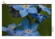 Forget Me Not Flower Carry-all Pouch