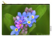 Forget-me-not Stylized Carry-all Pouch
