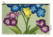 Forget Me Nots And Butterflies Carry-all Pouch