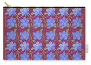 Forgetmenot Pattern On Marsala In Square Carry-all Pouch