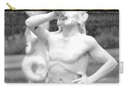 Forsyth Park Fountain - Black And White 1 2x3 Carry-all Pouch