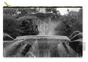 Forsyth Park Fountain - Black And White 2x3 Carry-all Pouch