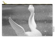 Forsyth Park Fountain - Black And White 3 2x3 Carry-all Pouch