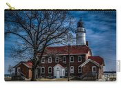 Fort Gratiot Lighthouse And Buildings With Clouds Carry-all Pouch