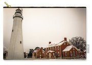 Fort Gratiot Lighthouse In Winter Carry-all Pouch