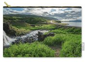 Fossa Waterfall In Hvalfjordur, Iceland Carry-all Pouch