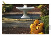 Fountain And Pumpkins At The Elizabethan Gardens Carry-all Pouch