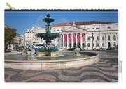 Fountain And Theater On Rossio Square In Lisbon Carry-all Pouch
