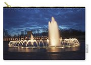 Fountain At Night World War II Memorial Washington Dc Carry-all Pouch