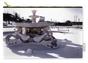 Fountain In The Snow Carry-all Pouch