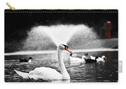 Fountain Swan Carry-all Pouch by Shane Holsclaw