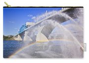 Fountains And The Market Street Bridge Carry-all Pouch by Tom and Pat Cory