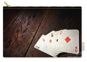 Four Aces Carry-all Pouch by Olivier Le Queinec