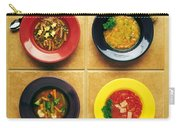 Four Dishes Of Different Food Carry-all Pouch