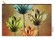 Four Fractal Flower Carry-all Pouch