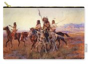Four Mounted Indians Carry-all Pouch