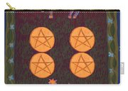 Four Of Pentacles Carry-all Pouch