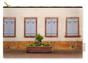 Four Pale Blue Shutters In Alsace France Carry-all Pouch