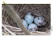 Four Red-winged Blackbird Eggs Carry-all Pouch by J McCombie