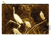 Four Resting Egrets Carry-all Pouch