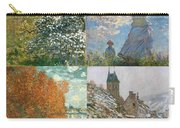 Four Seasons A Collage Of Monets Carry-all Pouch