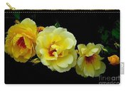 Four Stages Of Bloom Of A Yellow Rose Carry-all Pouch