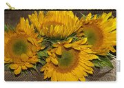 Four Sunflowers Carry-all Pouch