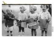 Four Young Children Singing Carry-all Pouch