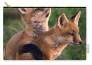 Fox Cub Buddies Carry-all Pouch by William Jobes