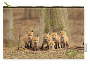 Fox Family Portrait Carry-all Pouch