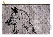 Fox On Burlap  Carry-all Pouch