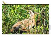 Red Fox Pup Hiding Carry-all Pouch