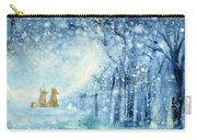 Foxes In The Snow Carry-all Pouch