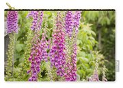 Foxglove Fence Carry-all Pouch by Anne Gilbert