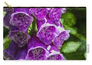 Foxgloves Textured Carry-all Pouch