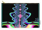 Fractal 21 Jeweled Plume Carry-all Pouch