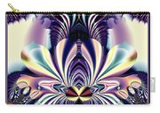 Fractal 26 Jeweled Tone Lotus Flower Carry-all Pouch