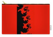 Fractal Black Dragons Carry-all Pouch
