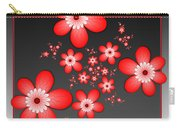 Fractal Cheerful Red Flowers Carry-all Pouch